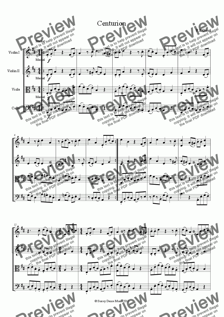 page one of Centurion (for brave string quartets!)