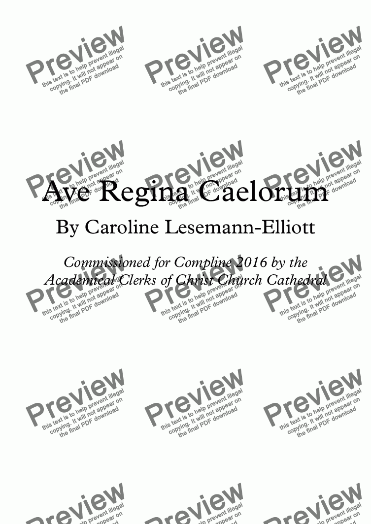 page one of Ave Regina Caelorum