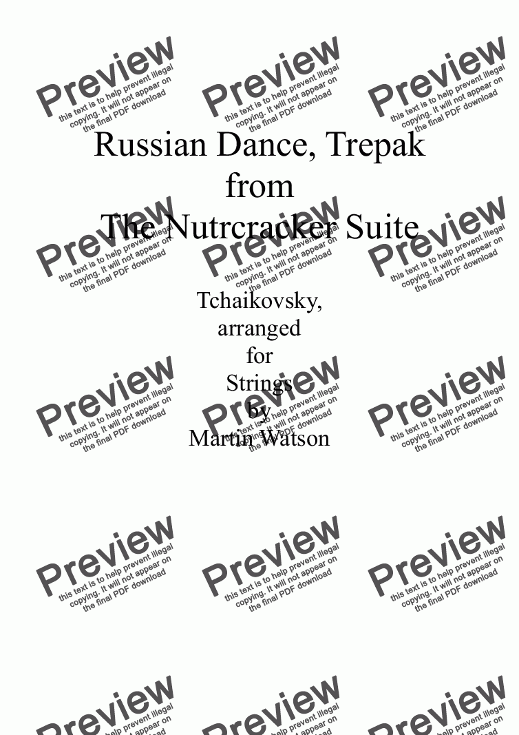 page one of Russian Dance, Trepak