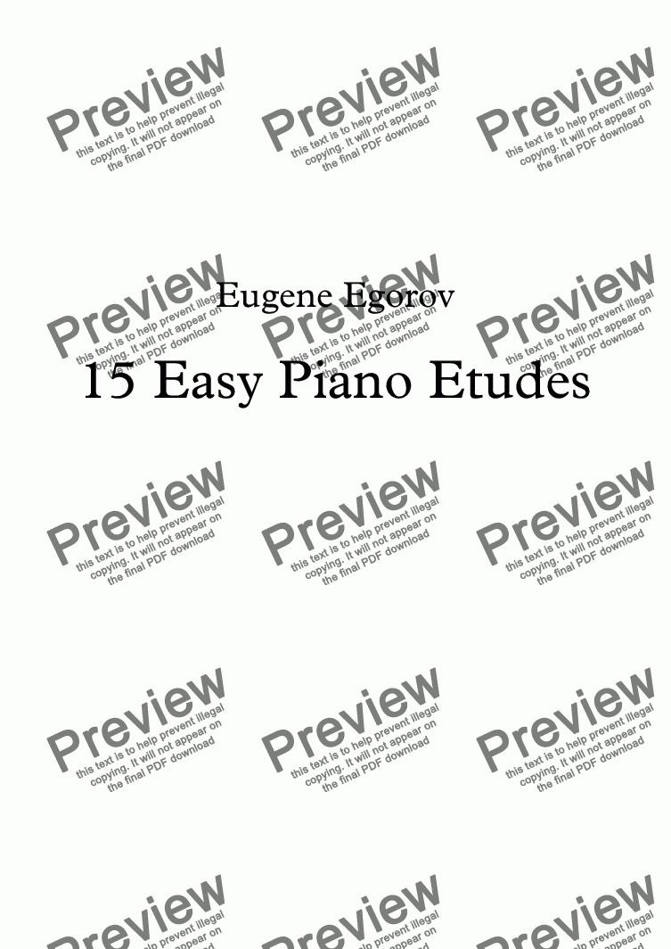 page one of 15 Easy Piano Etudes
