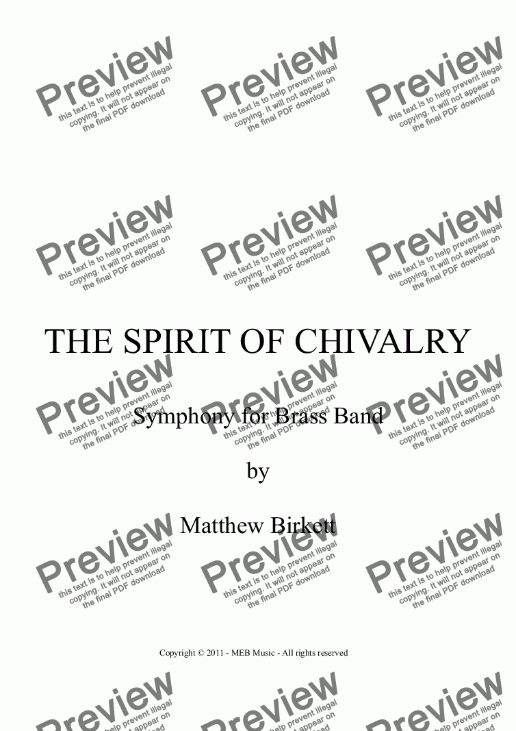 page one of The Spirit of Chivalry