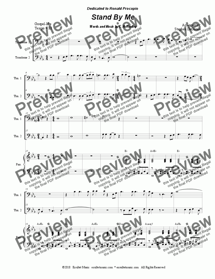 page one of Stand By Me (Trombone Duet)