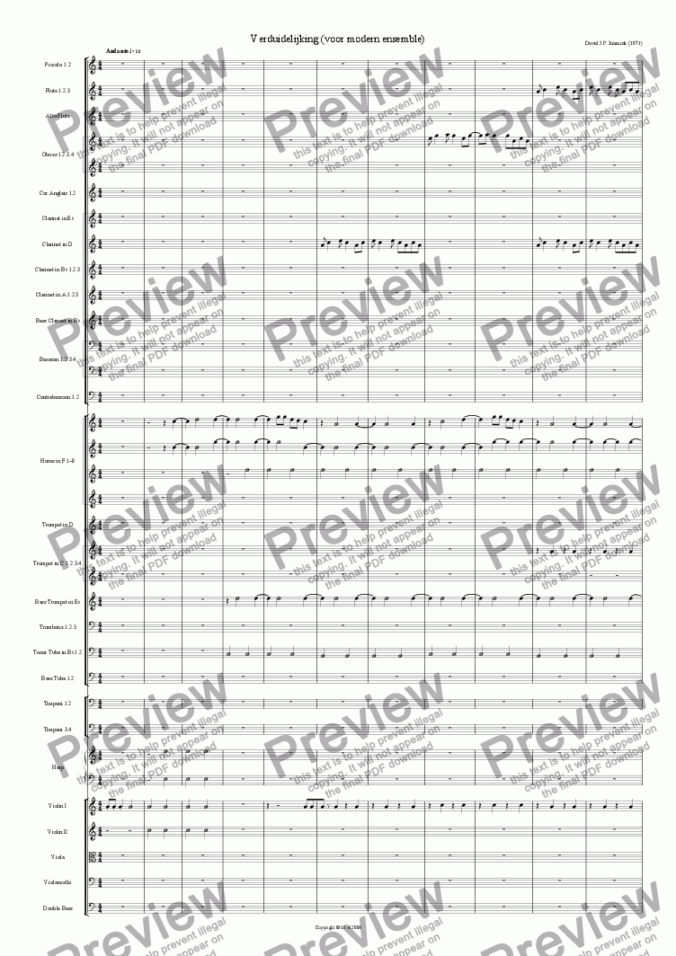 "page one of ""Voorts"" symphony part 1: Verduidelijking"