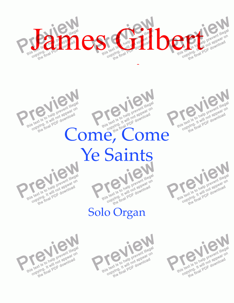 page one of Come, Come Ye Saints