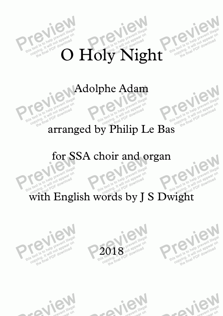 page one of O Holy Night