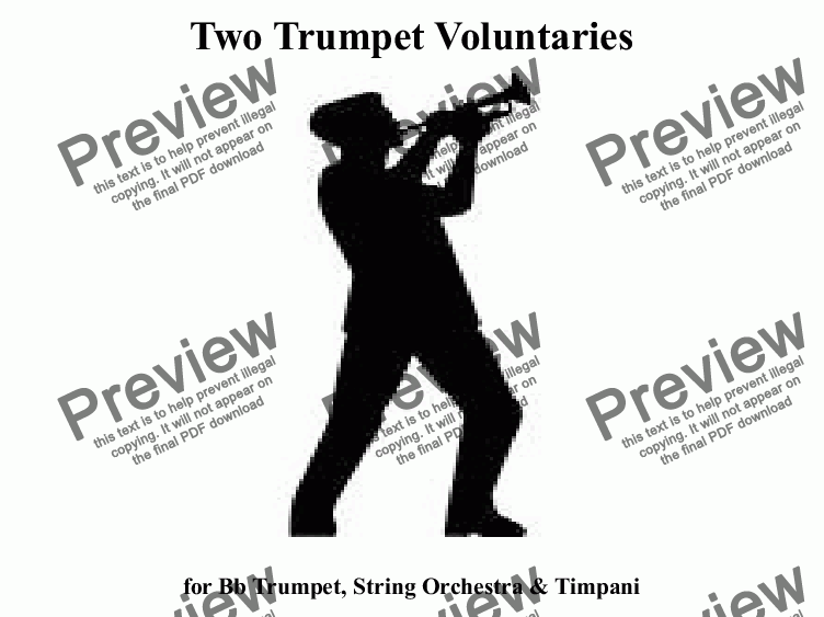 page one of Two Trumpet Voluntaries for Brass Quintet & Timpani (Amateur Version)