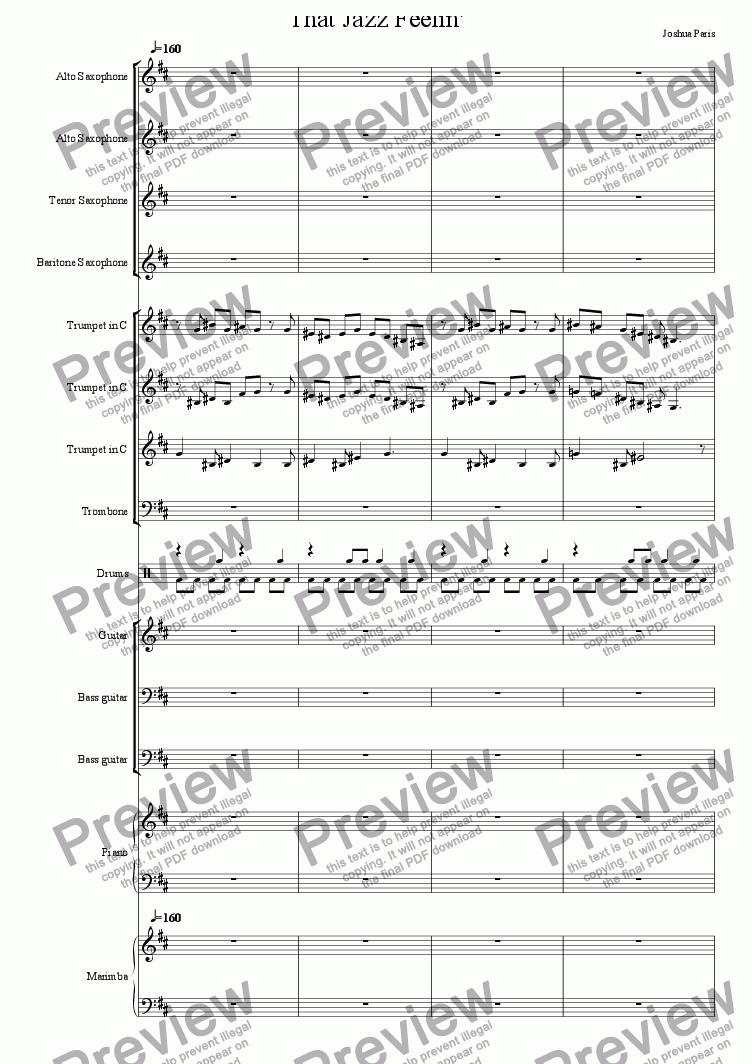 page one of That Jazz Feelin'