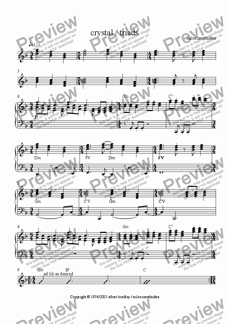 page one of blue song
