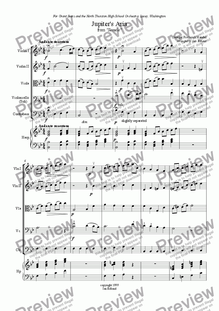 page one of Jupiter's Aria