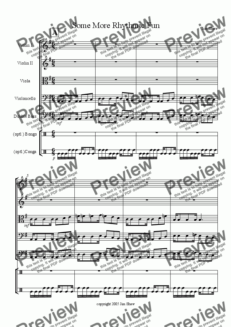 page one of Some More Rhythmic Fun