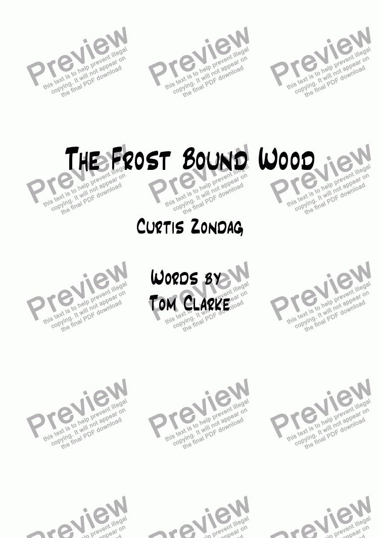 page one of The Frostbound wood
