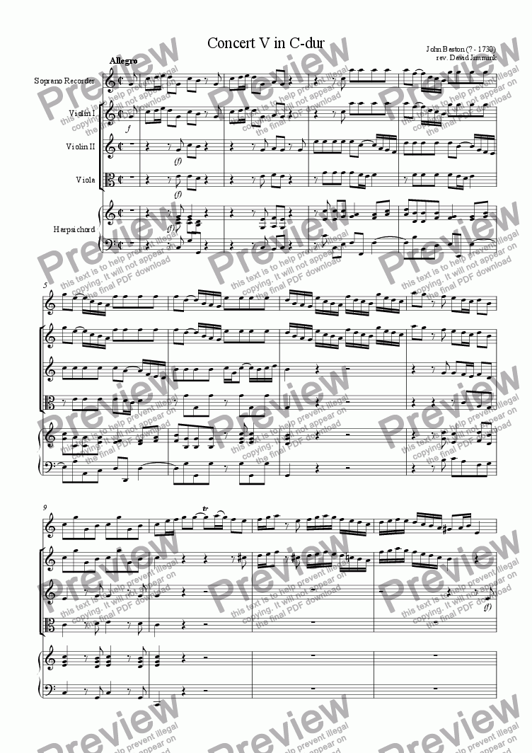 page one of Concert no. 5ASALTTEXT