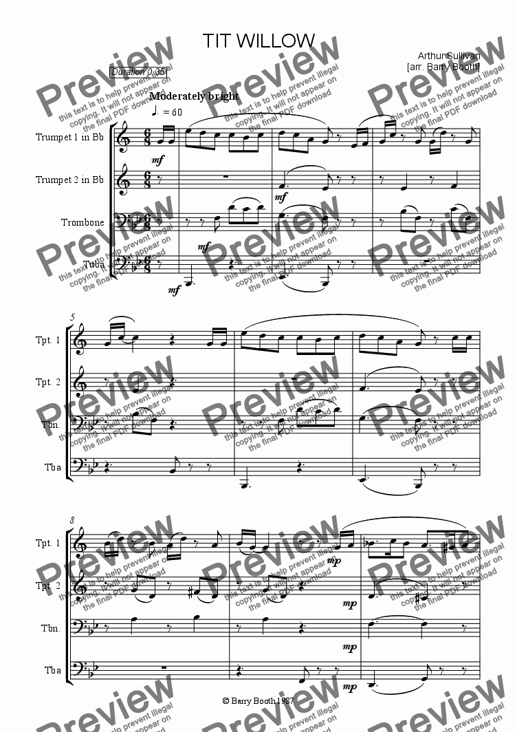 page one of Tit Willow [brass]ASALTTEXT