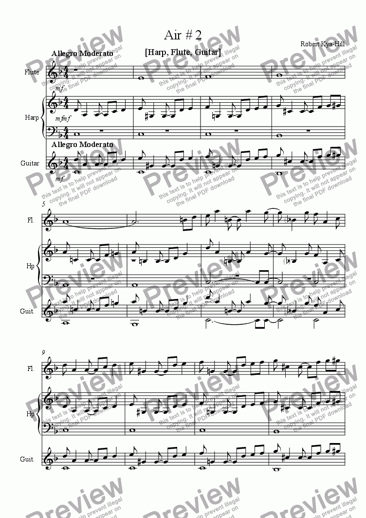 page one of Air # 2 [Harp, Flute, and Guitar]