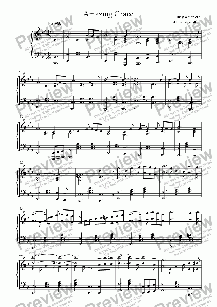 Amazing grace in gospel piano style download pdf file which method of viewing music should i use hexwebz Image collections