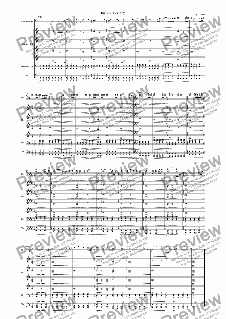 page one of Simple Harmony
