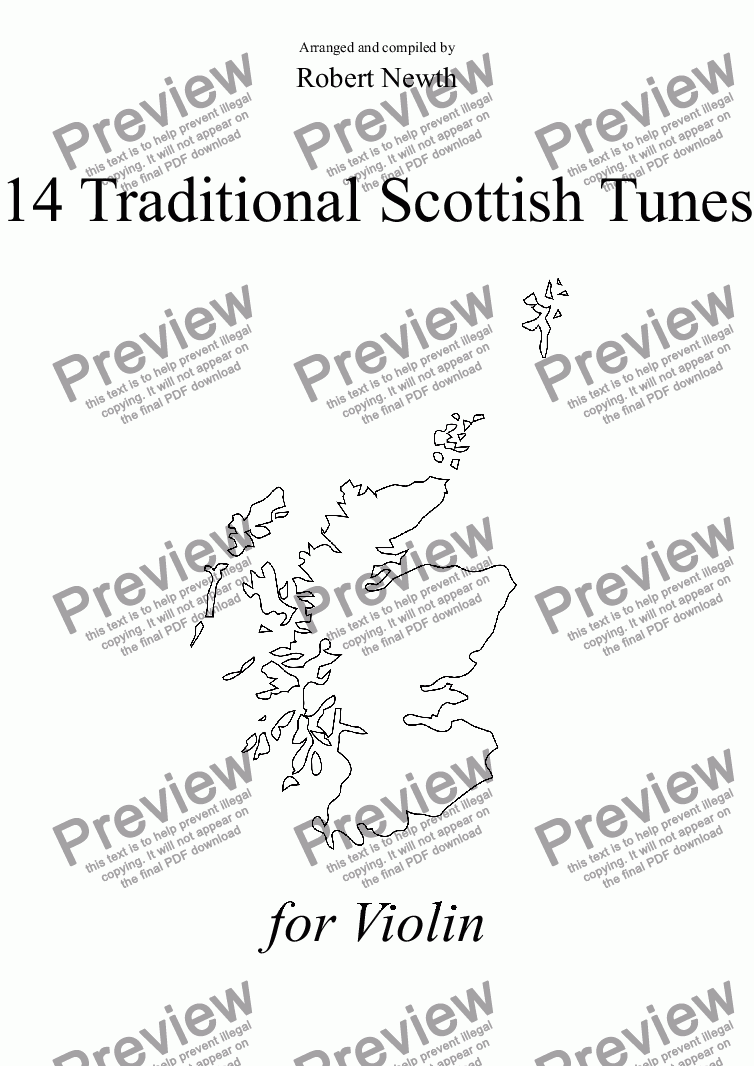 page one of 14 Traditional Scottish Tunes for Violin
