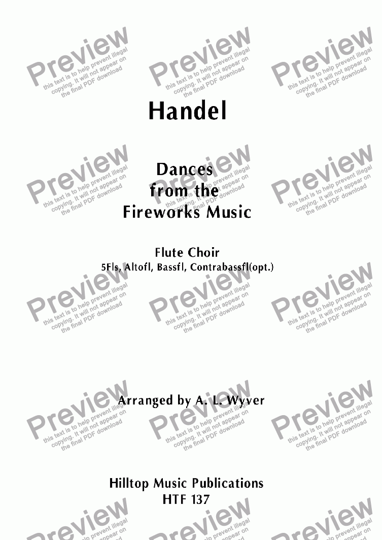 page one of Dances from the Fireworks Music