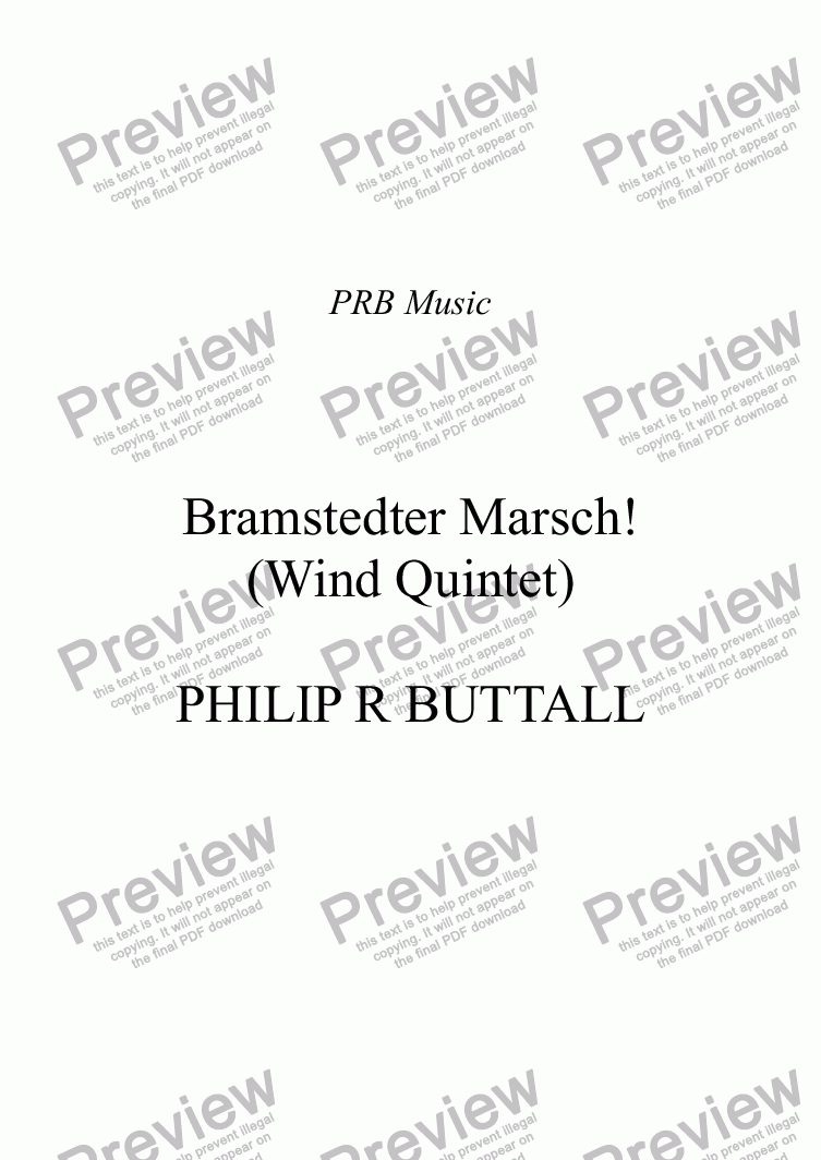 page one of Bramstedter Marsch! (Wind Quintet)
