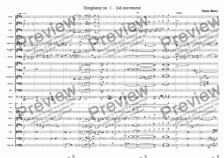 page one of Symphony no.1 - 2nd
