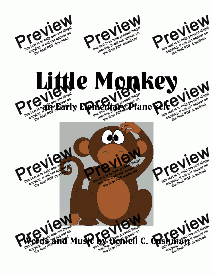 page one of Little Monkey