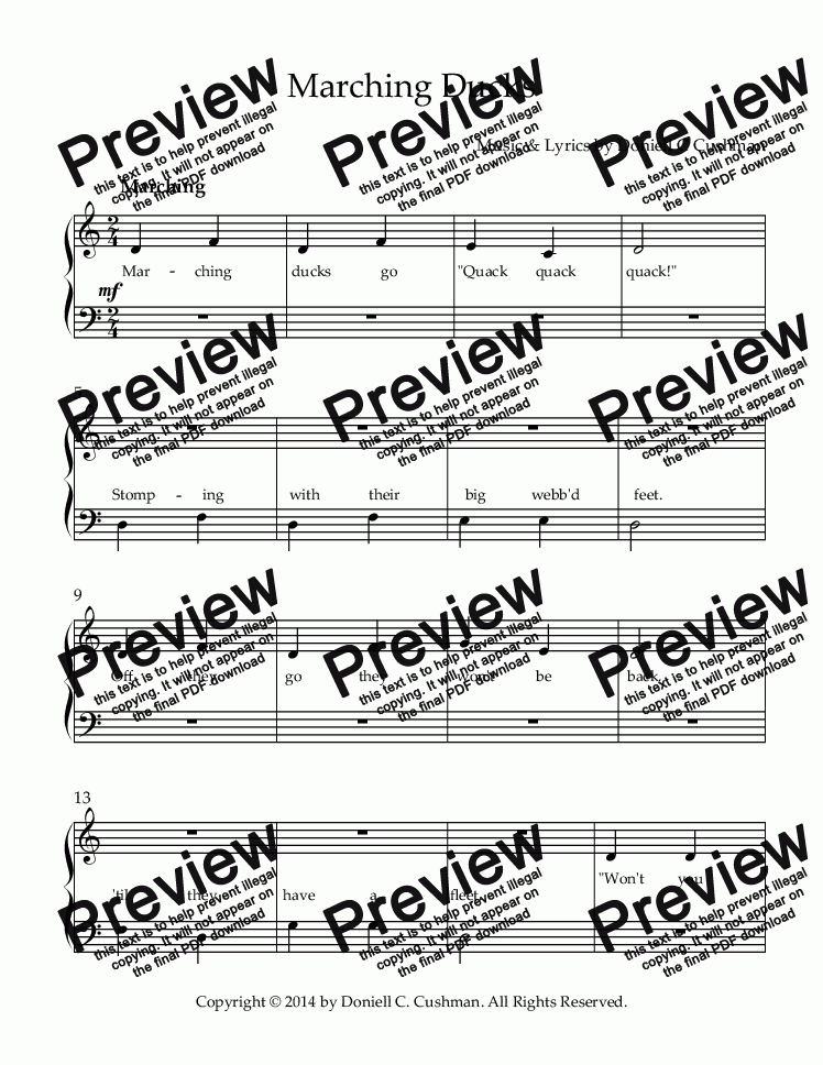 page one of Marching Ducks