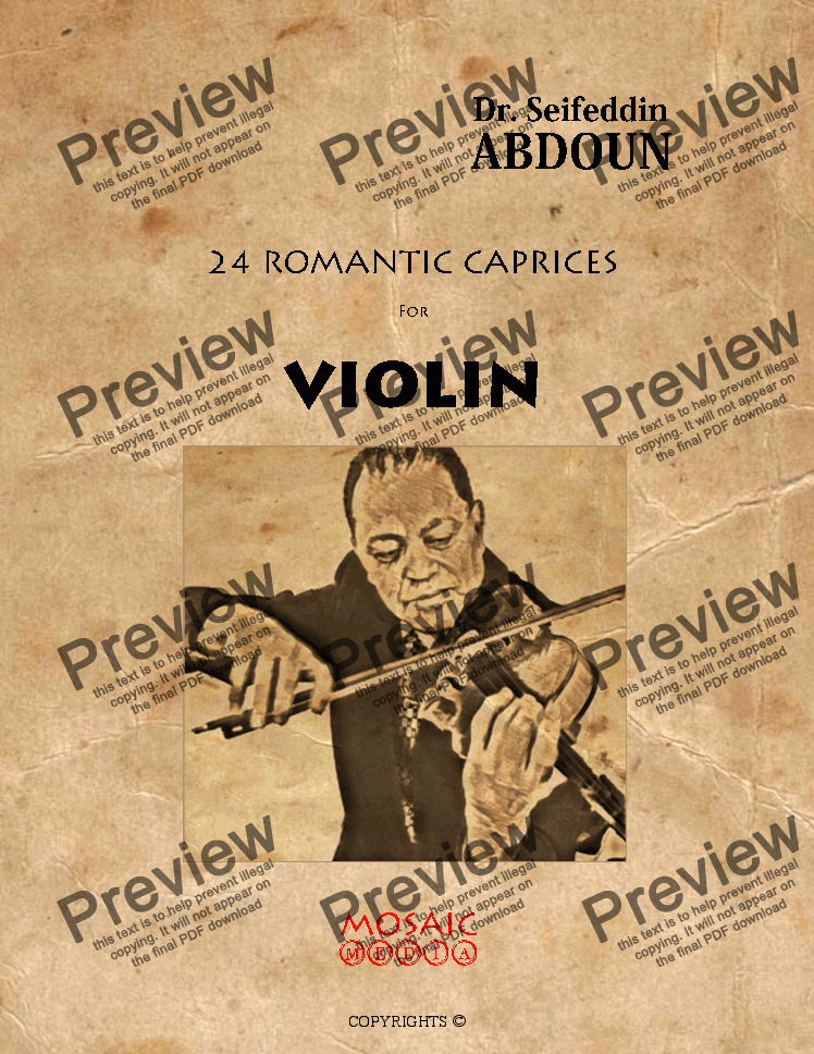 page one of 24 Romantic Caprice for Solo Violin