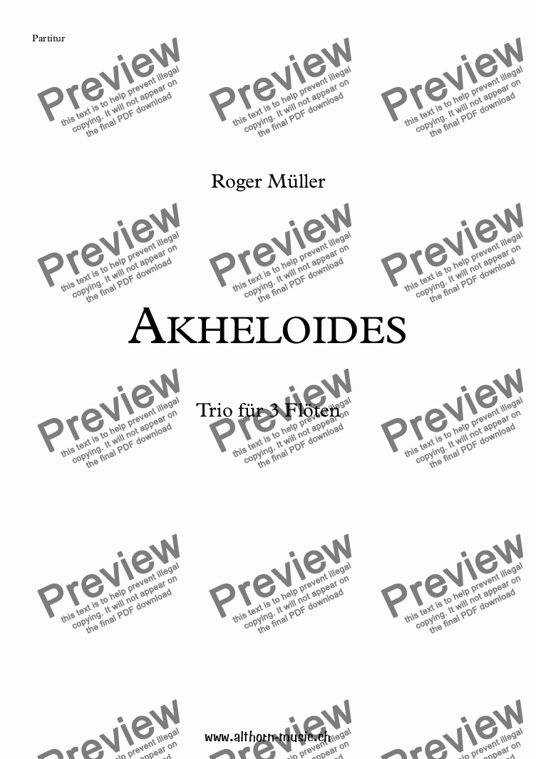 page one of Akheloides