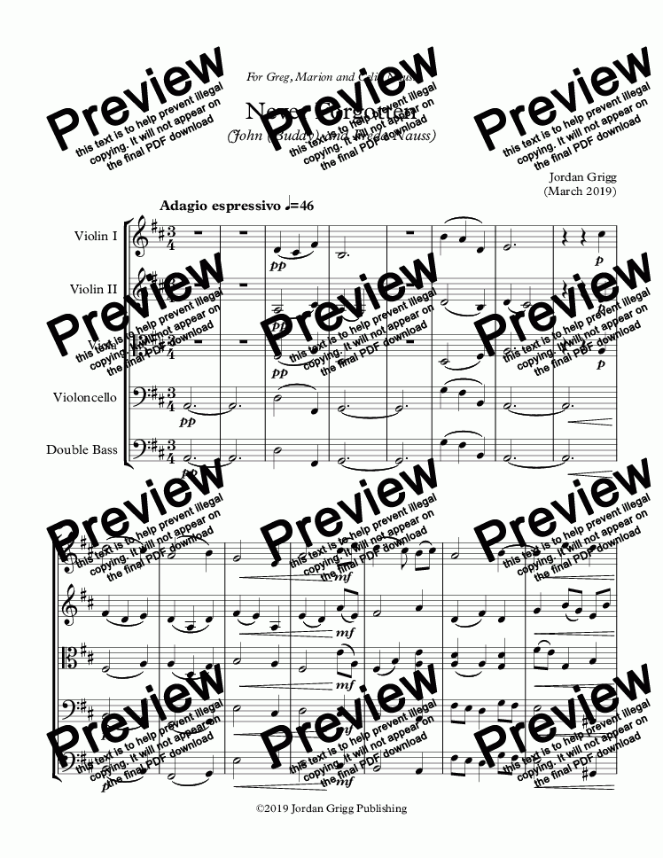 page one of Never Forgotten (John (Buddy) and Freda Nauss) - Score and parts