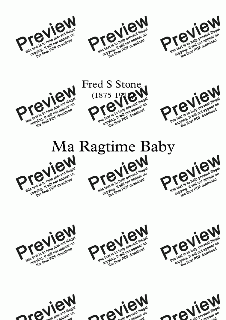 page one of Ma Ragtime Baby