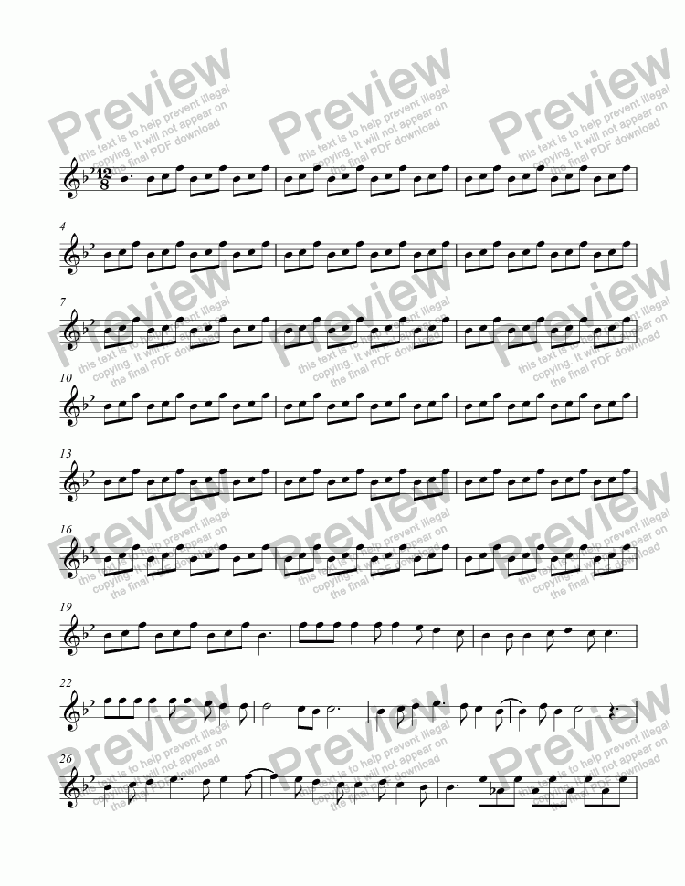 page one of (Processing score - uploaded via Sibelius)