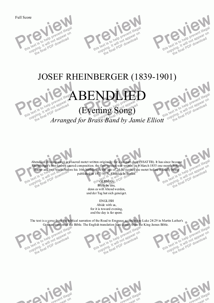 page one of ABENDLIED