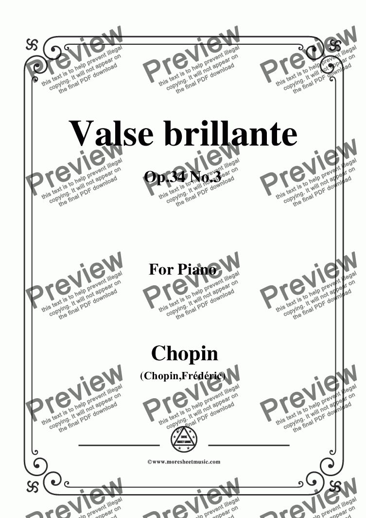 page one of Chopin-Valse brillante Op.34 No.3,for Voice and Piano