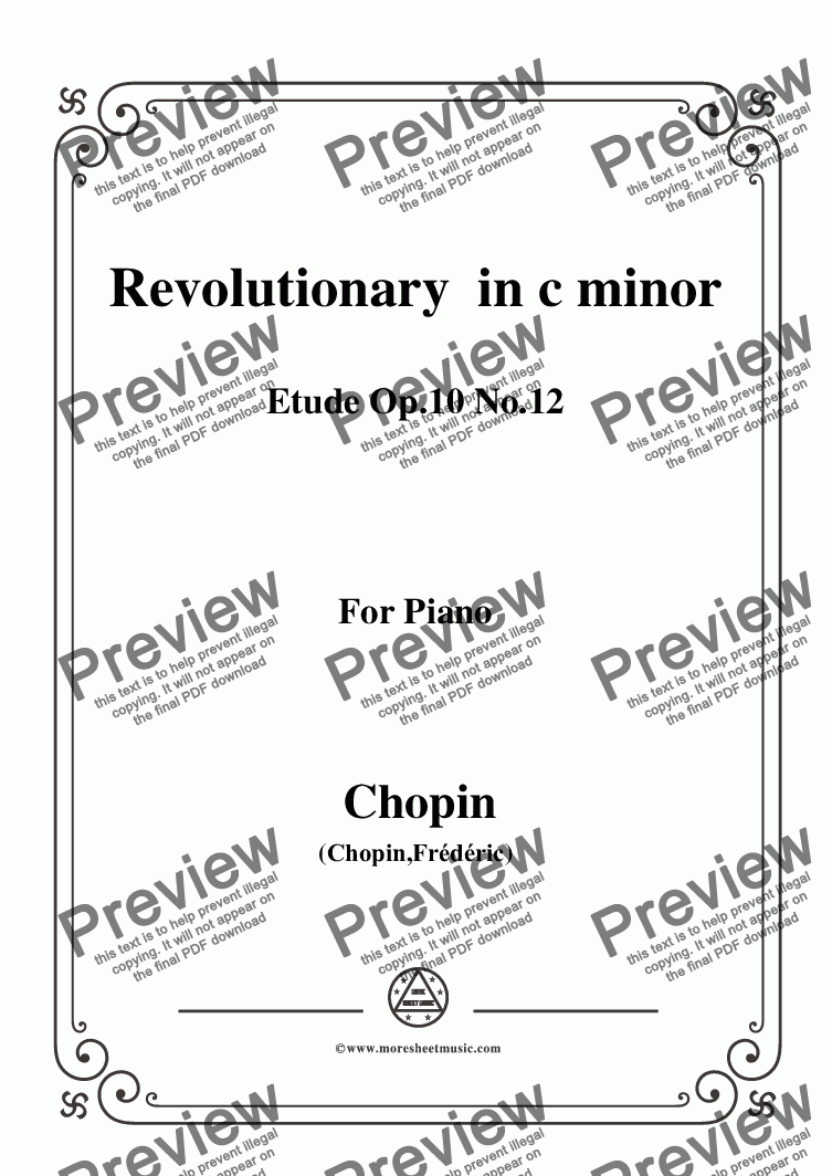 page one of Chopin-Etude Op.10 No.12 in c minor,Revolutionary,for Voice and Piano