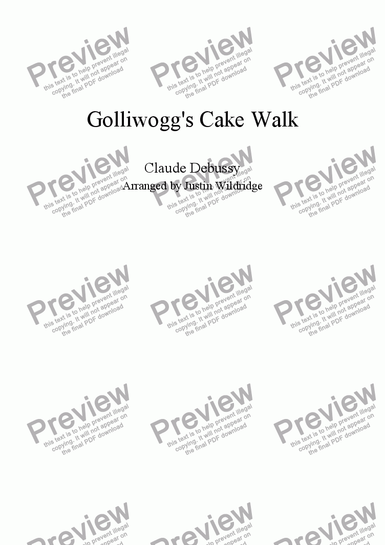 page one of Golliwogg's Cakewalk