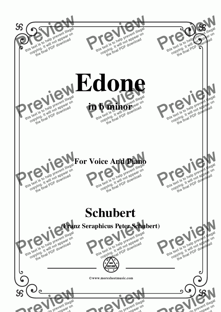 page one of Schubert-Edone,D.445,in b minor,for Voice and Piano