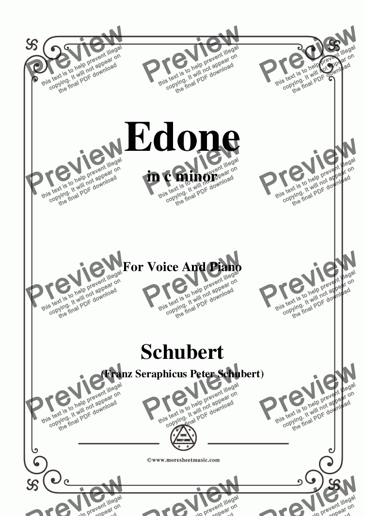 page one of Schubert-Edone,D.445,in c minor,for Voice and Piano
