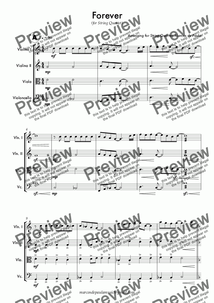 page one of Forever - Full Score