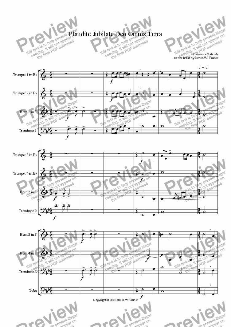 page one of Plaudite Jubilate