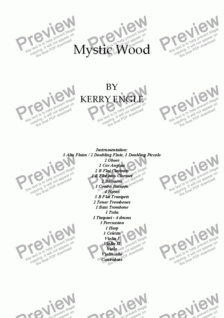 page one of Mystic Wood