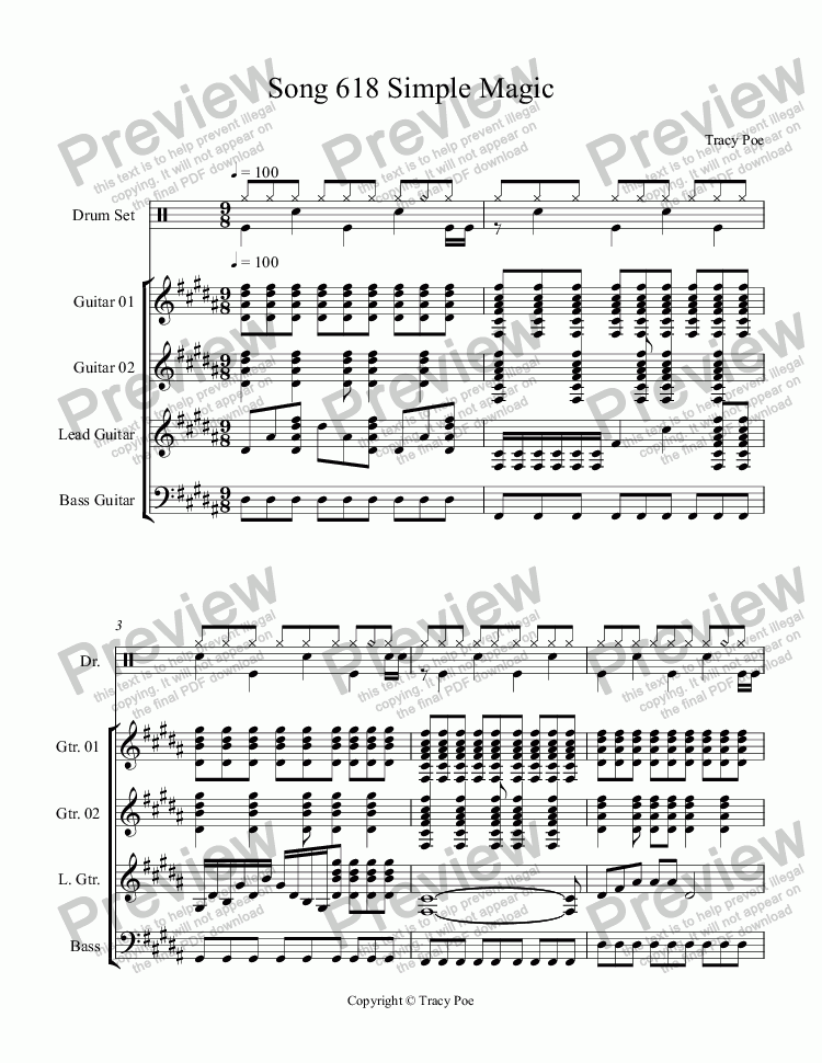 page one of Song 618 Simple Magic