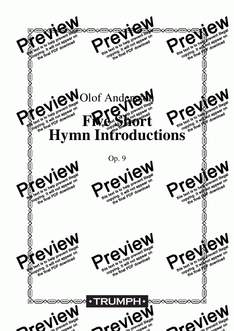 page one of Five Short Hymn Introductions