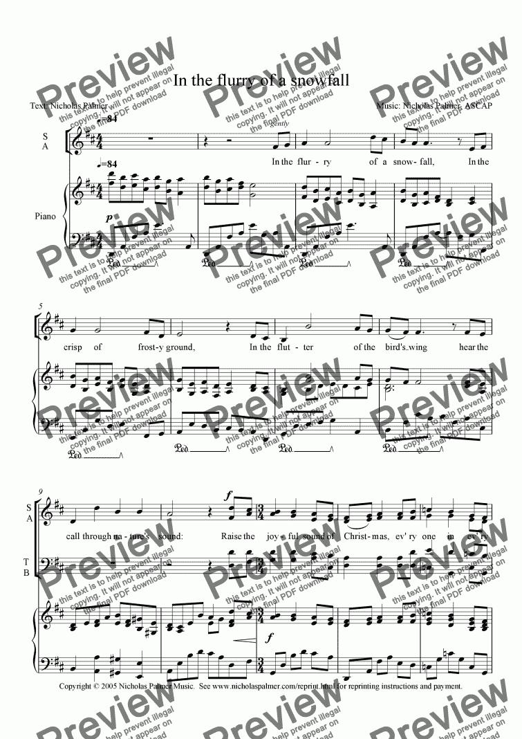 A Christmas Carol Pdf.In The Flurry Of A Snowfall A Christmas Carol For Choir By Nicholas Palmer Sheet Music Pdf File To Download