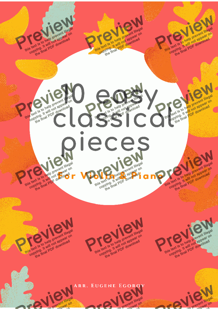 page one of 10 Easy Classical Pieces For Violin & Piano