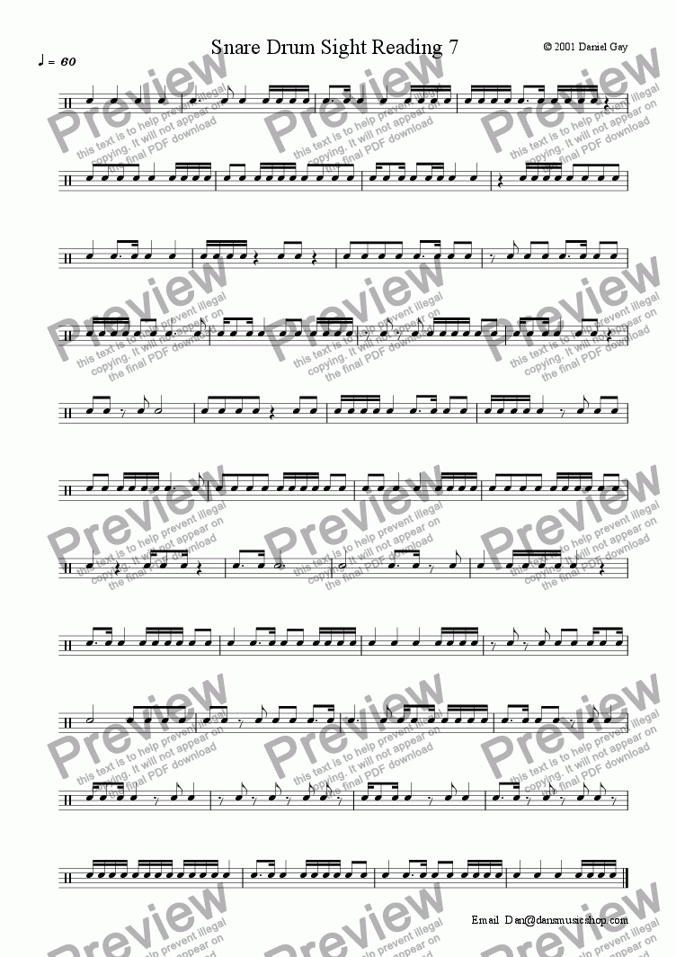 snare drum sight reading 7 download sheet music pdf file. Black Bedroom Furniture Sets. Home Design Ideas