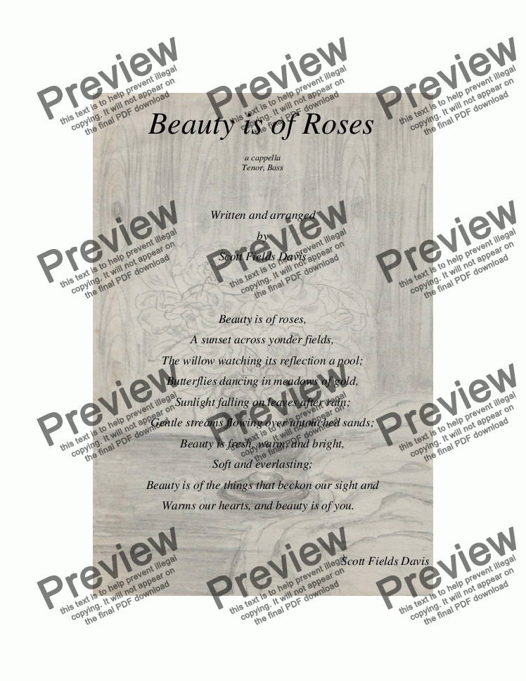 page one of Beauty is of roses