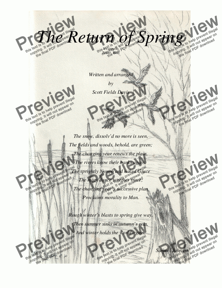 page one of The Return of Spring