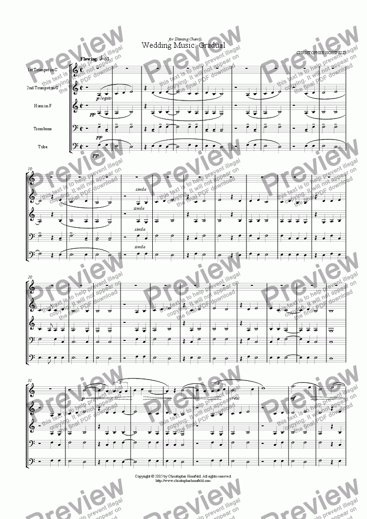 page one of Wedding Music: Gradual