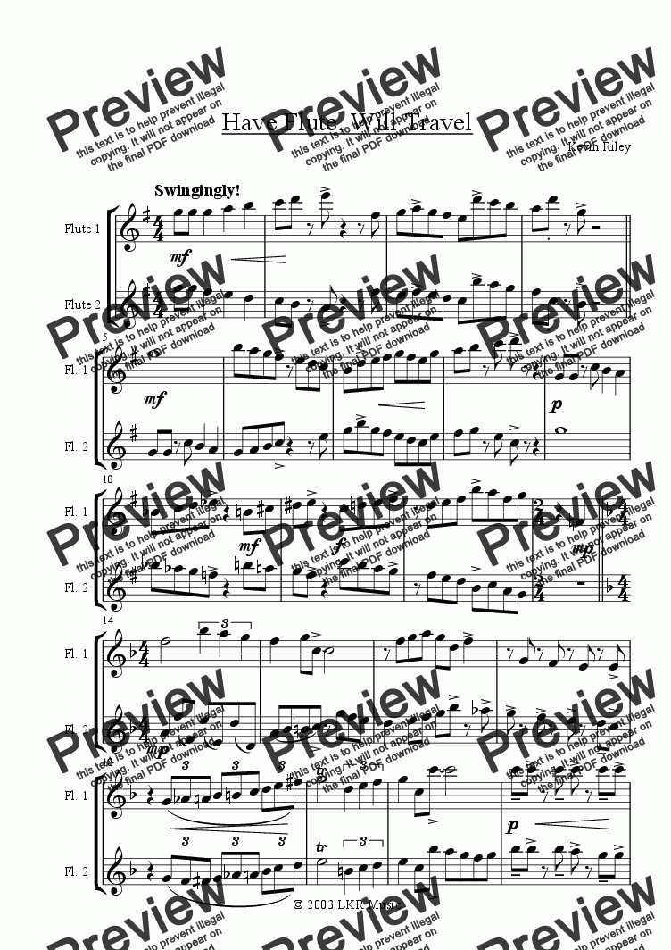 page one of Have Flute, Will Travel!