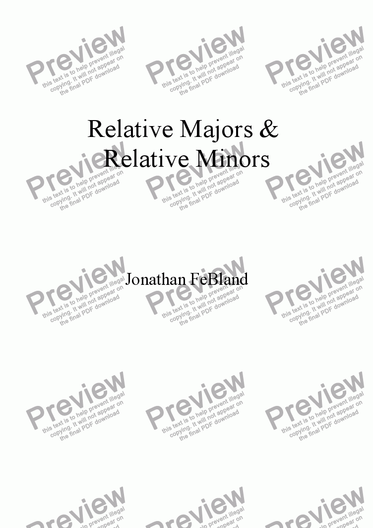 page one of Relative Majors & Relative Minors